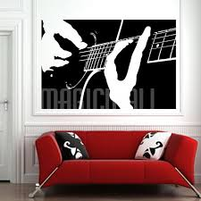 Guitar Wall Art Musician Playing Decal Sticker Graphic