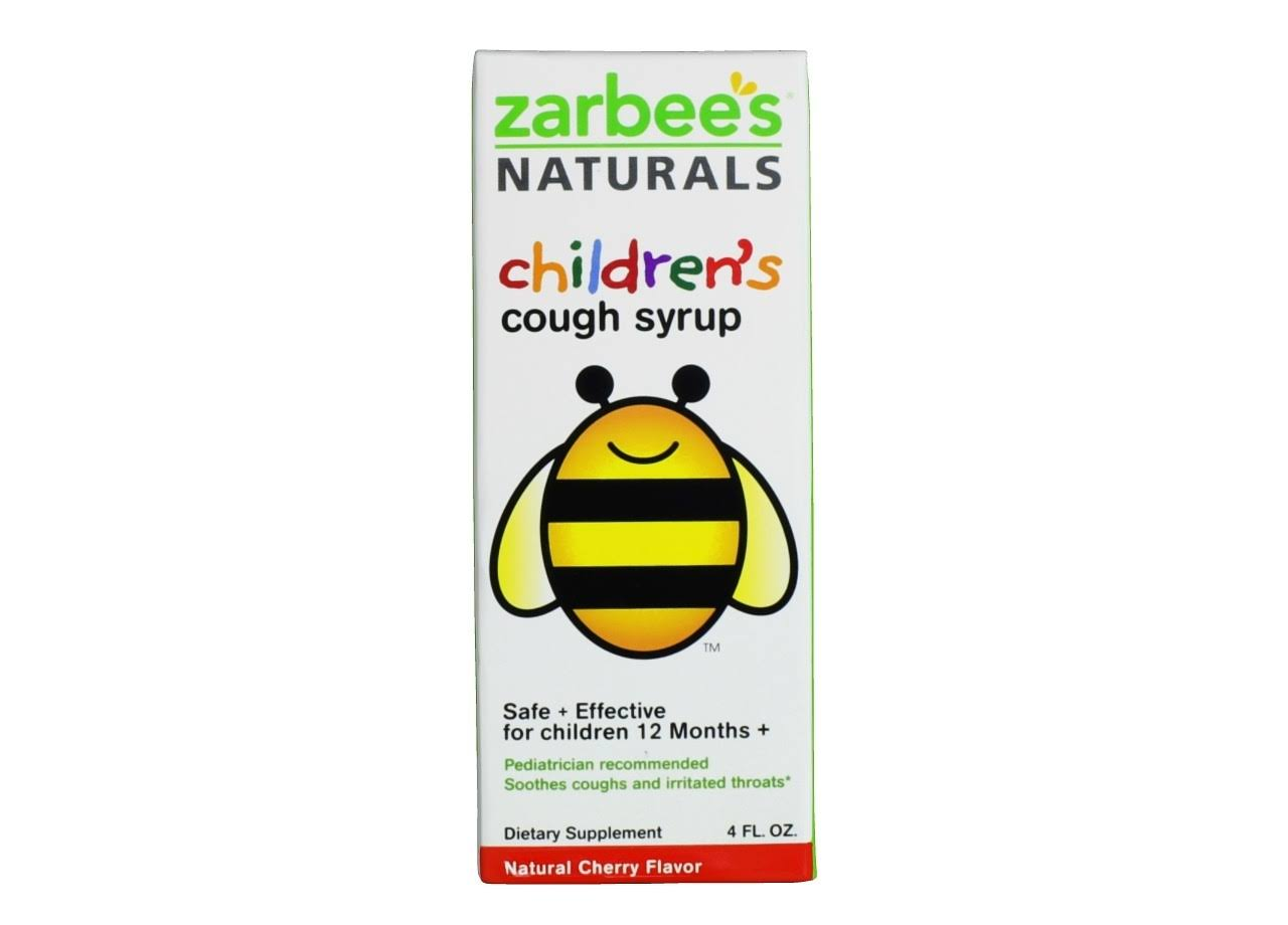 Zarbee's Naturals Children's Natural Cough Syrup - Cherry Flavor, 4oz