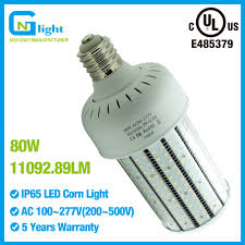 parking lot light retrofit 80w led corn bulb 300watt hid cfl mhl