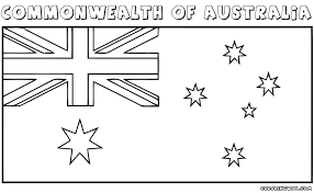 Australian Flag Coloring Pages