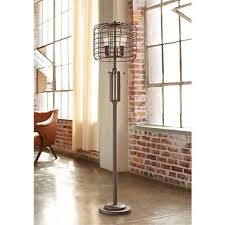 industrial cage 65 high metal floor l with edison bulbs