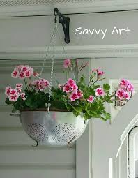 Metal Colander Hanging Planter Re Purpose A Vintage Into