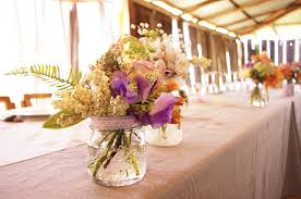 Flower Reception Floral Country Wedding Centerpieces OneWed Rustic