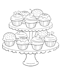 Pin For Later 50 Printable Adult Coloring Pages That Will Make You Feel Like A Kid Again Get The Page Cupcakes