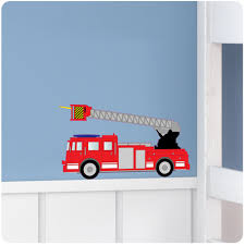 Fire Engine Nursery Bedroom Vinyl Wall Stickers/Decals/Mural/Decor ...