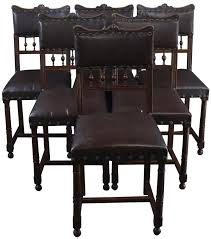 DINING CHAIRS ART NOUVEAU SET 6 ANTIQUE FRENCH 1900 WALNUT VINYL UP ... Tiger Oak Fniture Antique 1900 S Tiger Oak Round Pedestal With Ding Chairs French Gothic Set 6 Wood Leather 4 Victorian Pressed Spindle Back Circa Room 1900s For Sale At Pamono Antique Ding Chairs Of Eight Chippendale Style Mahogany 10 Arts Crafts Seats C1900 Glagow Antiques Atlas Edwardian Queen Anne Revival Table 8 Early Sets 001940s Extendable With Ball Claw Feet Idenfication Guide