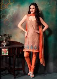 Fancy Designer Cotton Churidar Salwar Suit