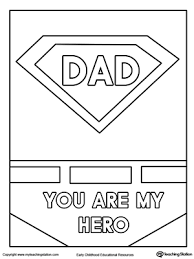 Fathers Day Card Superhero Outfit