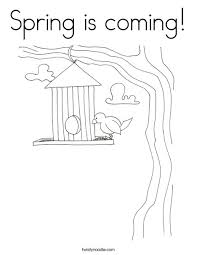 Spring Is Coming Coloring Page