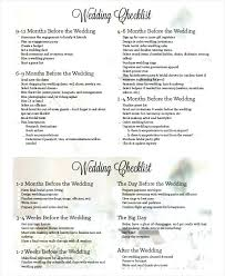 Day Of Wedding Checklist Planning Format Printable