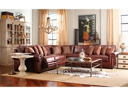 Bernhardt Foster Leather Sofa by Living Room Grandview 5 Piece Leather Sectional