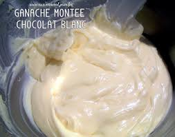 pour la ganache montée chocolat blanc il s agit toujours d un