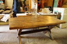 table en bois de cuisine table de cuisine 100 vieux bois n 1003 le géant antique