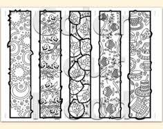 Printable Coloring Zendoodle Bookmarks ColorYourMood Etsy