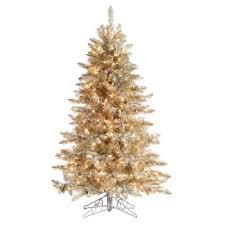 Fraser Fir Artificial Christmas Tree Sale by Sterling Inc 5 Ft Pre Lit Platinum Fraser Fir Artificial
