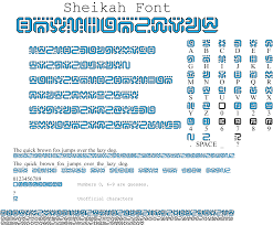 Sheikah Font Full Numbers Letters Symbols [1 2] by ProEndreeper