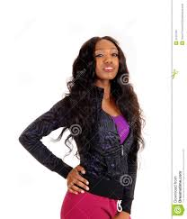 black woman in black sweater stock photo image 52757921