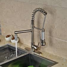 Bar Faucet With Sprayer by Senlesen Brushed Nickel Kitchen Sink Faucet Pull Out Down Sprayer