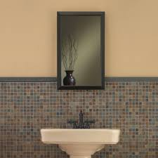 Broan Nutone Mirrored Medicine Cabinets by Jensen 625n244bzc Hampton Medicine Cabinet Oil Rubbed Bronze 15