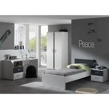 chambre grise et blanc table de nuit 2 tiroirs anthracite et blanche pour chambre enfant