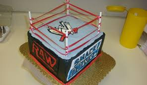 Wwe Raw Cake Decorations by Wrestling Ring Side View Cakecentral Com