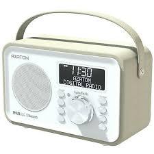 azatom dab fm radio alarm clock speaker recharge battery spitalfields white 745560192092 ebay