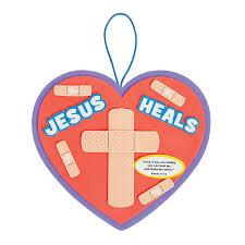 Jesus Heals Sign Craft Kit