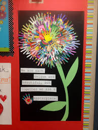 Spring Classroom Door Decorations Pinterest by We Are Each Unique And Beautiful But Together We Are A Masterpiece