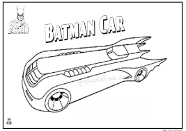 Batman Car Free Printable Coloring Pages