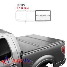 100 Truck Bed Hard Cover For 20042018 Ford F150 Lock Solid TriFold Tonneau