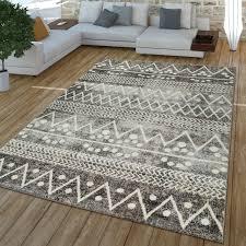 kurzflor teppich abstraktes muster beige