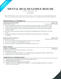 Sample Health Counselor Resume Mental Example In Good Free
