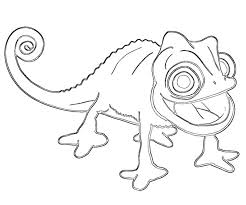 Tangled And Pascal Coloring Pages