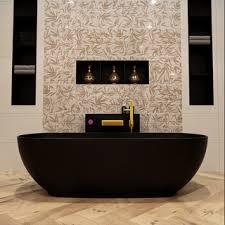 badewanne mineralwerkstoff schwarz rock 170 cm