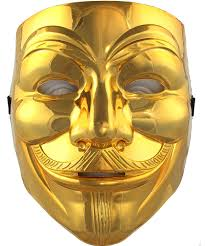 Slipknot Halloween Masks For Sale by V For Vendetta Mask Cool Halloween Mask Gold Plating Mask The Best