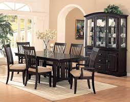 Winsome Formal Dining Room Furniture With Dark Wooden Cabinet And Floor