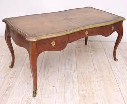 bureau louis xv epoque louis xv style bureau plat in kingwood with bronze d