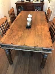 100 Heavy Wood Dining Room Chairs Large Natural Table And With 4 Chairs Seats 8 In Hull East Yorkshire Gumtree