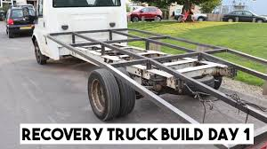 100 Truck Bed Ramp FORD TRANSIT RECOVERY TRUCK BED BUILD PART 1 RAMP TRUCK