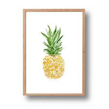 Pineapple Art Print Watercolor Tropical
