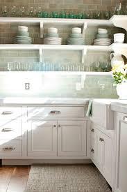 green subway tile backsplash transitional kitchen decor de