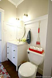 powder room redo complete from thrifty decor chick
