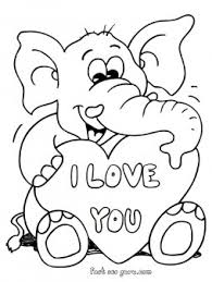 Printable Valentines Day Teddy Elep Simply Simple Coloring Pages