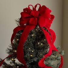 Red Velvet Christmas Tree Topper Bow