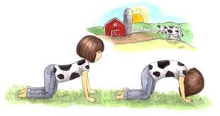 Cow Pose Love The Polka Dot Shirt On Cat Yoga For KidsKid