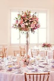 Pink and gold wedding reception ideas