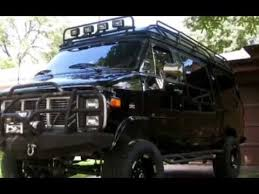 Lifted GMC 4x4 Camper Van