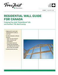Ceiling Joist Span Tables by Residential Wall Guide For Canada
