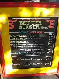 Burger Food Truck Menu - ARCH.DSGN
