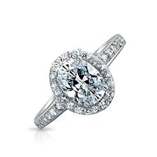 Vintage Style Oval CZ 15ct Engagement Ring
